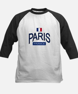 Paris France Kids Baseball Jersey