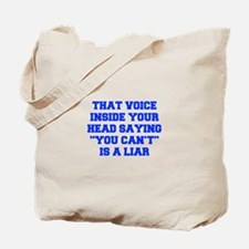THAT-VOICE-INSIDE-YOUR-HEAD-FRESH-BLUE Tote Bag