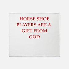horseshoes Throw Blanket