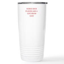 horseshoes Travel Mug