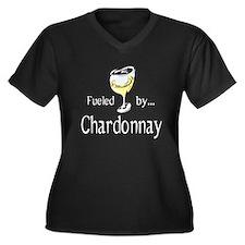 Chardonnay Women's Plus Size V-Neck Dark T-Shirt