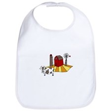 Midwest Farm Cao Cattle Barn Silo Windmill Bib