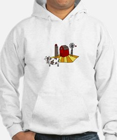 Midwest Farm Cao Cattle Barn Silo Windmill Hoodie