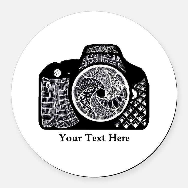 Customizable Camera Original Art Round Car Magnet