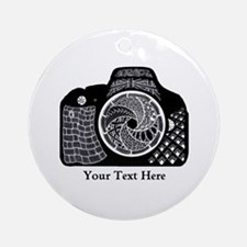 Customizable Camera Original Art Ornament (Round)