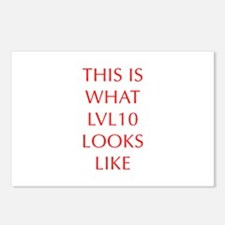 THIS-IS-WHAT-LVL10-LOOKS-LIKE-OPT-RED Postcards (P