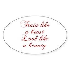 TRAIN-LIKE-A-BEAST-cho-red Decal