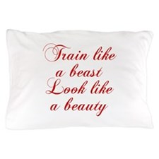 TRAIN-LIKE-A-BEAST-cho-red Pillow Case