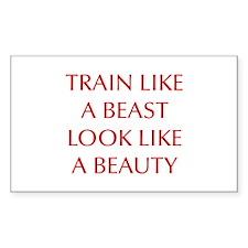 TRAIN-LIKE-A-BEAST-OPT-RED Decal
