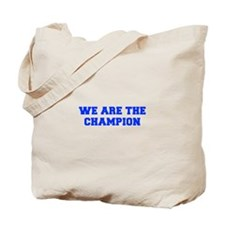 WE-ARE-THE-CHAMPION-FRESH-BLUE Tote Bag