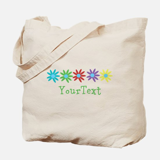 Personalize Flowers Tote Bag