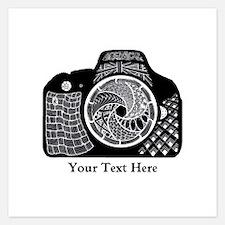 Zentangle SLR Camera Black Invitations