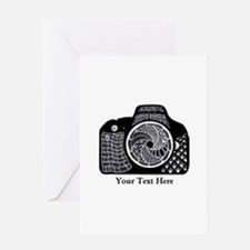 Original Camera Art Personalizable Greeting Card