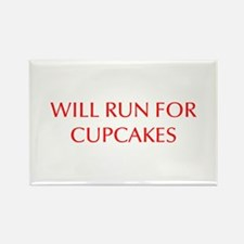 WILL-RUN-FOR-CUPCAKES-OPT-RED Magnets