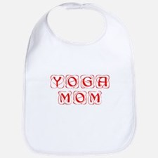 YOGA-MOM-KON-RED Bib