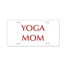 YOGA-MOM-OPT-RED Aluminum License Plate