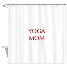 YOGA-MOM-OPT-RED Shower Curtain