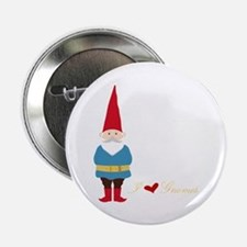 "I L ove Gnomes 2.25"" Button"