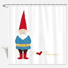 I L ove Gnomes Shower Curtain