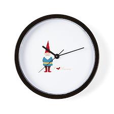 I L ove Gnomes Wall Clock