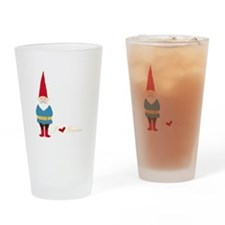 I L ove Gnomes Drinking Glass