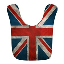 Distressed British Union Jack flag Bib