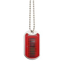 British Phone Booth Dog Tags