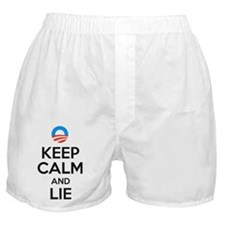 Keep Calm and Lie. Anti Obama Boxer Shorts