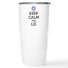 Keep Calm and Lie. Anti Travel Mug