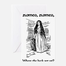 Funny Romeo and juliet Greeting Cards (Pk of 20)