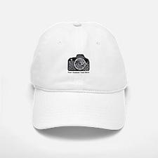 Black and White Camera Artwork Original Baseball Baseball Cap