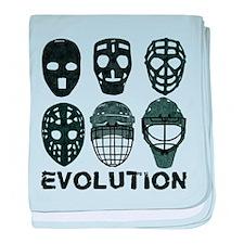 Hockey Goalie Mask Evolution baby blanket
