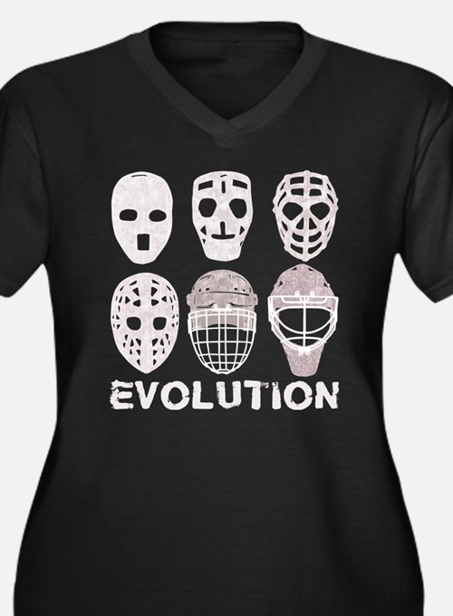 Hockey Goalie Mask Evolution Plus Size T-Shirt