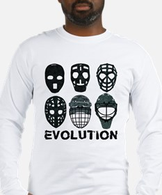 Hockey Goalie Mask Evolution Long Sleeve T-Shirt