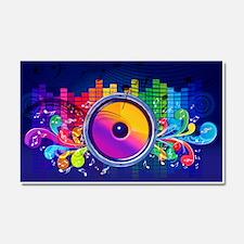 Blue Music Car Magnet 20 x 12