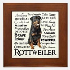 Rottie Traits Framed Tile