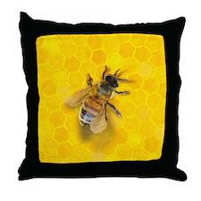 Artsy Bee Throw Pillow