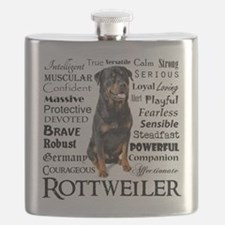 Rottie Traits Flask