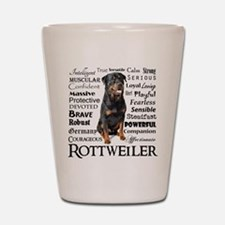 Rottie Traits Shot Glass