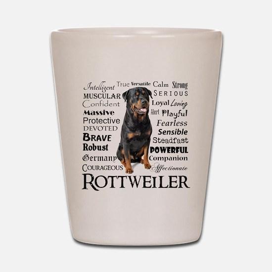 Rottie Traits Shot Glass