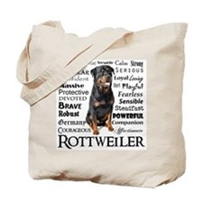Rottie Traits Tote Bag
