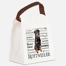 Rottie Traits Canvas Lunch Bag