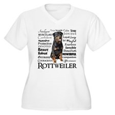 Rottie Traits Plus Size T-Shirt