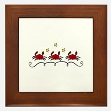 Three Crabs Framed Tile