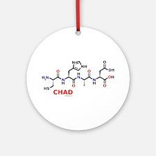 Chad name molecule Ornament (Round)