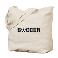 soccer with ball Tote Bag