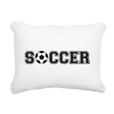 soccer with ball Rectangular Canvas Pillow