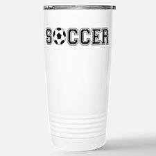 soccer with ball Travel Mug