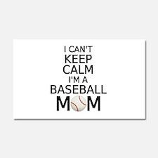 I cant keep calm, I am a baseball mom Car Magnet 2