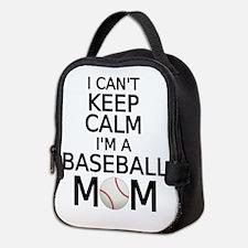 I cant keep calm, I am a baseball mom Neoprene Lun